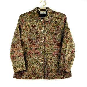 Erin London Tapestry Button-Up Jacket-XL